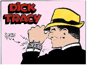 Strip and Dick tracy technology comic