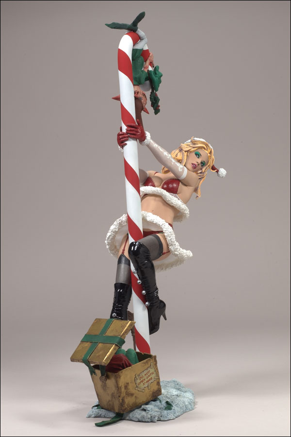 McFarlane Toys Twisted Christmas Exclusive Action Figure Mrs Claus Blonde Ha...