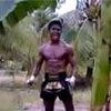 Muay Thai Fighter Chops Down Banana Tree With Strikes And Kicks