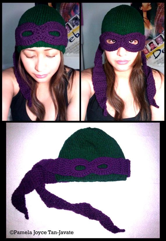 Fancy Teenage Mutant Ninja Turtle Convertible Beanie Youbentmywookie