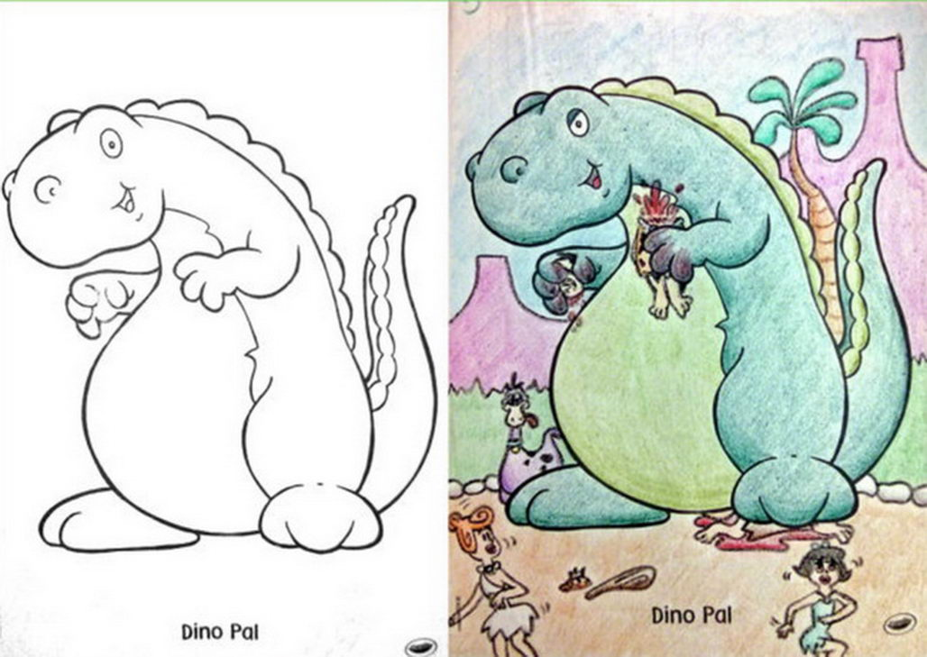 These Kid's Coloring Book Page Makeovers Will Kill Your ...