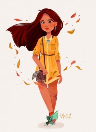 Anoosha-Syed-Disney-Princesses-As-Modern-Day-Girls-Pocahontas-the-Linguist-686x938.jpg