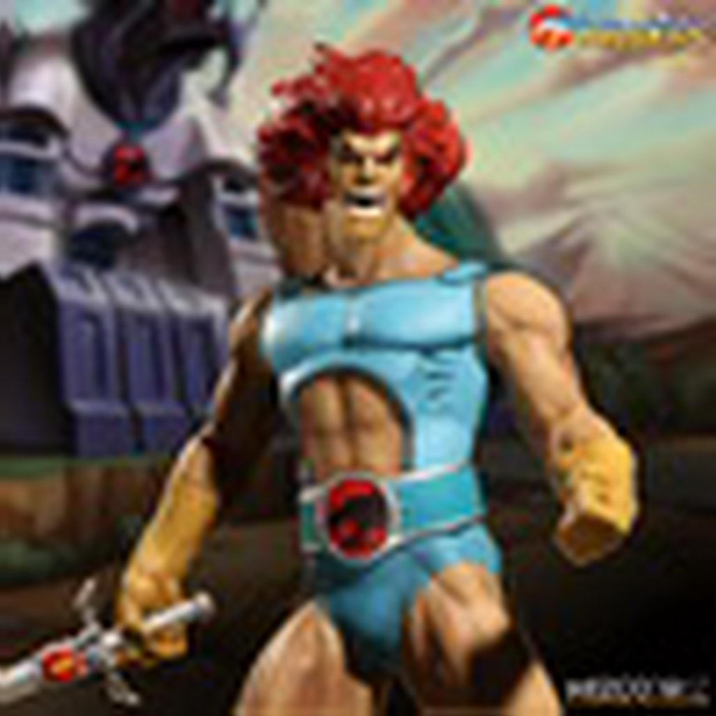 Mezco Variant Mega Scale Thundercats Lion-O and Glow In The Dark Mumm-Ra