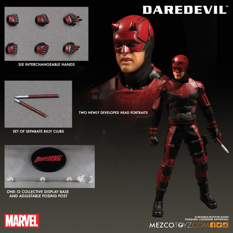 The First Netflix Daredevil Trailer Is Out: Mezco Unveils Ten New One:12 Collective