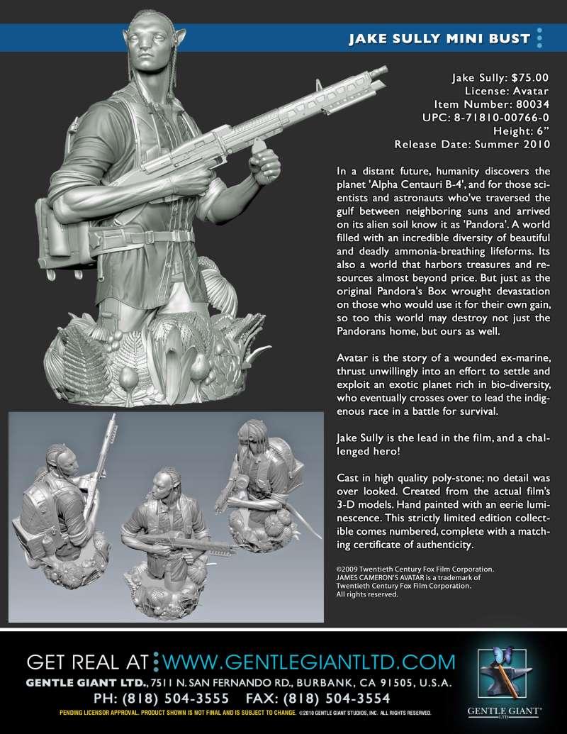 Gentle Giant Announces 'Avatar' Busts – YBMW