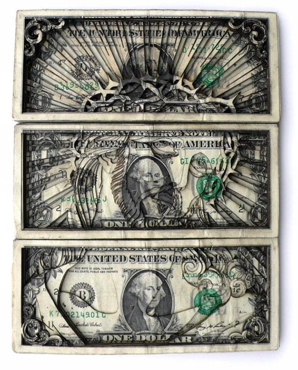 Find more in art laser cut dollar bills scott cbell scott