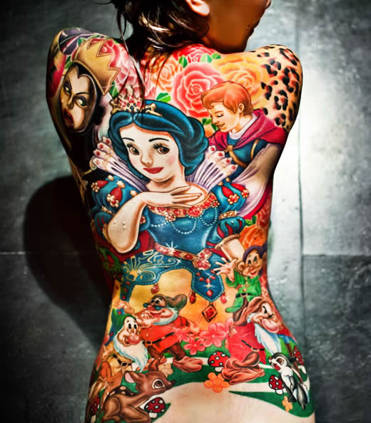 Geeky the girl with the disney tattoo youbentmywookie for Tattooed disney princesses
