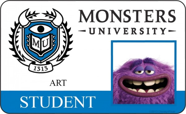 Monsters University Character Art Profiles And Id Cards