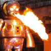 Giant Fire Beathing Baby Robot At Tokyo's Roppongi District