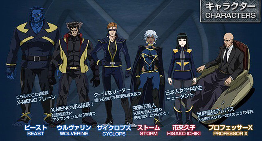 Madhouse s x men anime designs and cast revealed