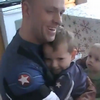 Military Dad Surprises His Son on His Birthday, Disguised as Captain America