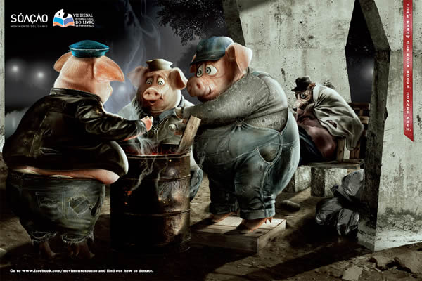 Homeless Fairy Tales Characters In New Ad Campaign For