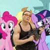 Jean-Claude Van Damme meets My Little Pony