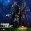 Hot Toys – MMS476 – Avengers: Infinity War - 1/6th scale Groot & Rocket Collectible Set