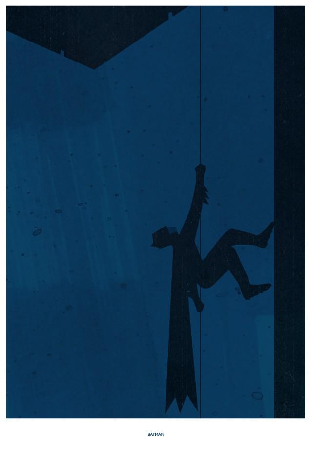 Beautiful minimalist comic book poster art by rogan josh for Minimal art gallery london