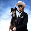 Johnny Depp And Armie Hammer In Lone Ranger Costumes With The Navajo