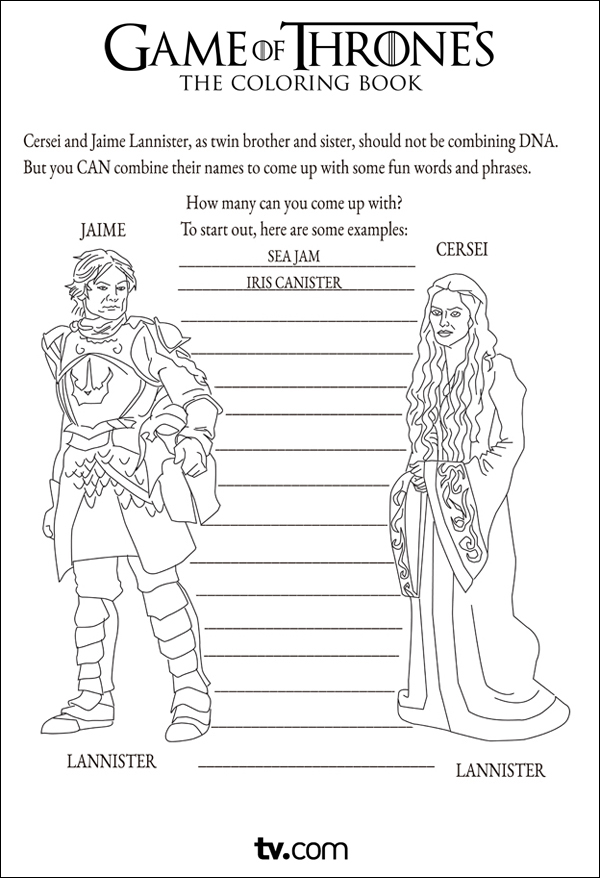 Game Of Thrones Coloring Book Review : Game of Thrones The Coloring Book YouBentMyWookie