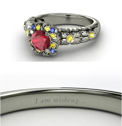 beautiful engagement rings inspired by disney princesses
