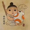 Tik Ka Transforms Star Wars and Marvel Heroes into Traditional Chinese Chubby Babies