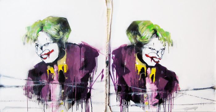 Anthony Lister S Beautiful Abstract Superheroes Paintings