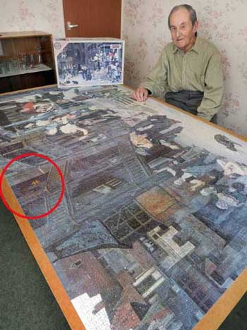 Man finishes puzzle after eight years only to find one for Custom 5000 piece puzzle