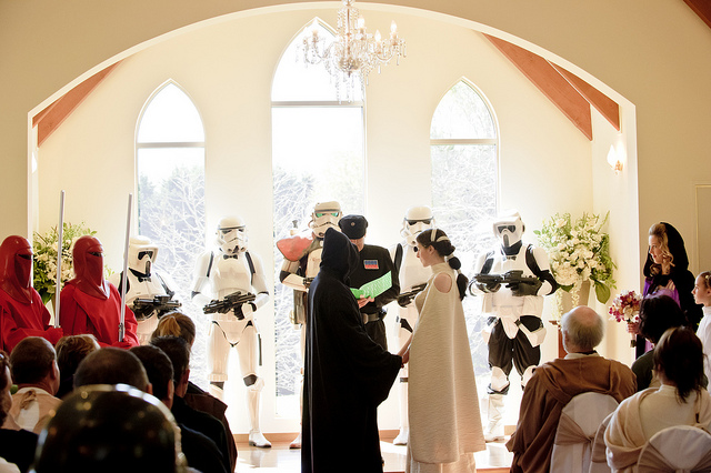 Nadia And Dales Big Fat Geeky Star Wars Themed Wedding