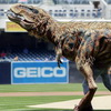 Baby T-Rex Throws Out Ceremonial First Pitch At Baseball Game