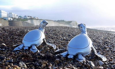 What's Hot: Ptolemy Elrington Turns Hubcaps Into Adorable Critters