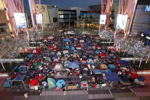 Twilight Fans Camp Out At Nokia Theatre In Los Angeles