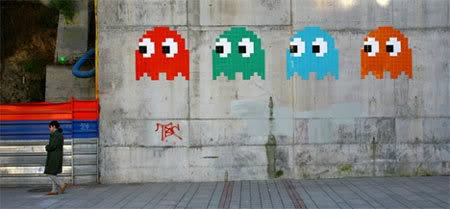 A Gallery Of Awesome Old School 8 Bit Video Game Graffiti