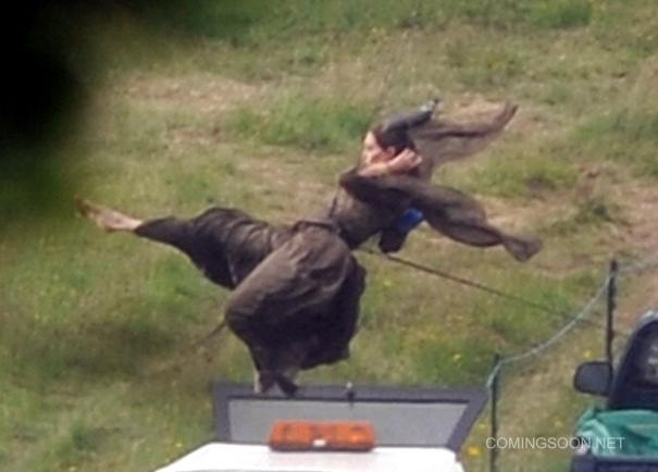New Maleficent Set Pics Feature A Flying Angelina Jolie