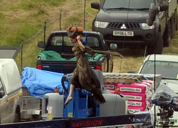 New Maleficent Set Pics Feature A Flying Angelina Jolie Ybmw