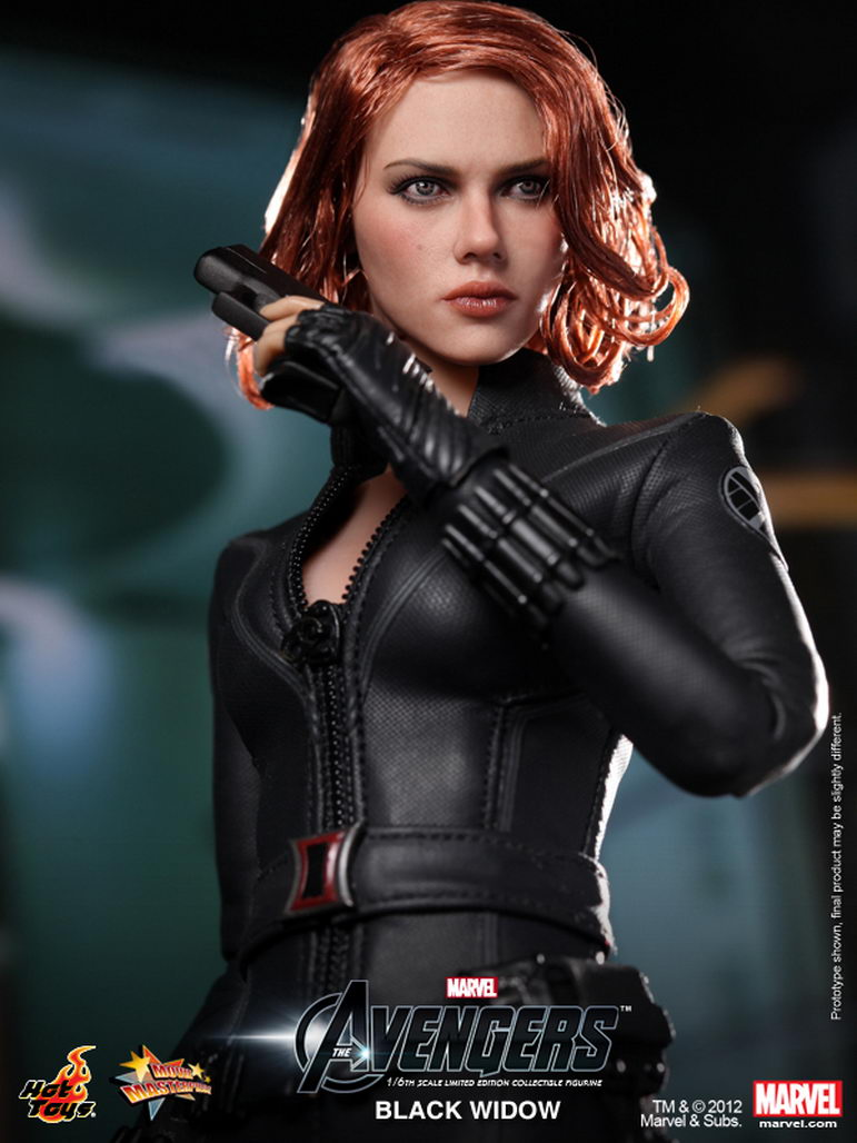 hot toys the avengers 16th scale black widow limited