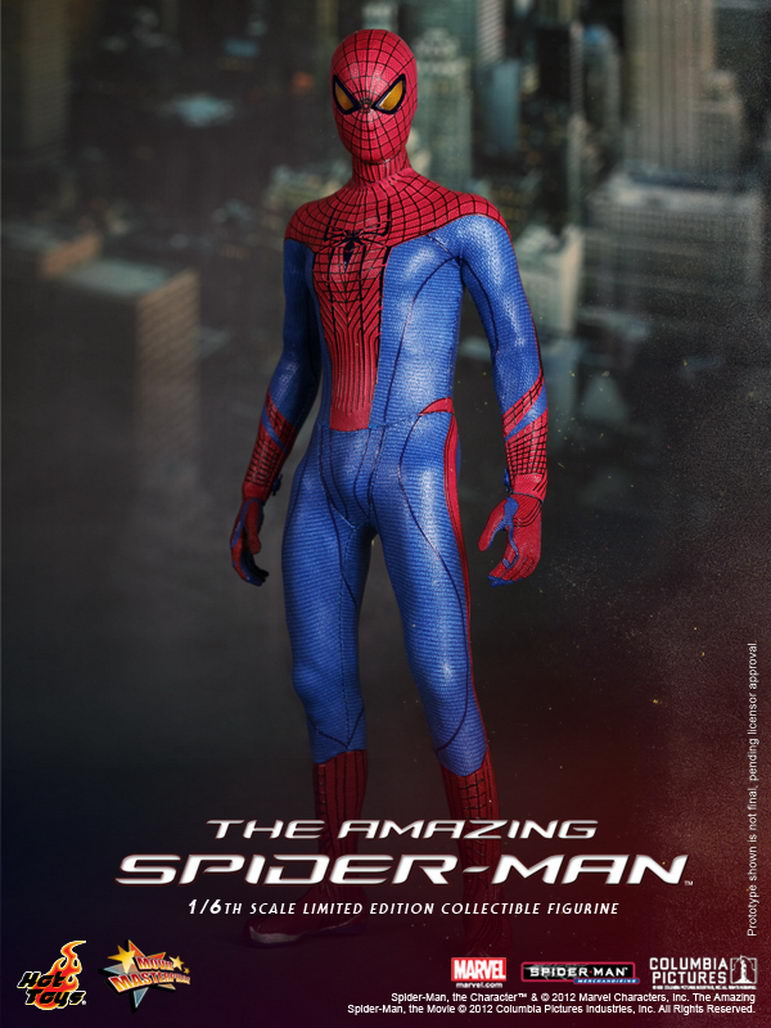 hot toys the amazing spider man 1 6th scale spider man. Black Bedroom Furniture Sets. Home Design Ideas