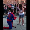 Epic Geek Wedding Proposal: Man Saves GF In Spider-Man Costume, Proposes