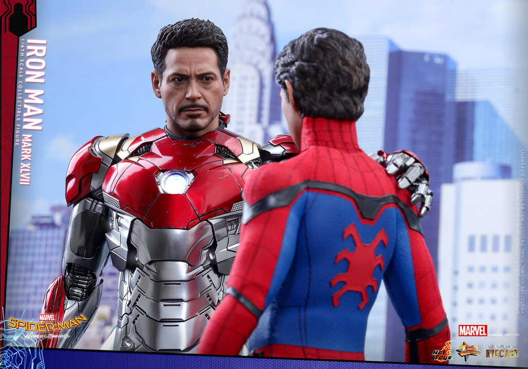 Hot Toys Spider Man Homecoming 1 6th Scale Mark Xlvii