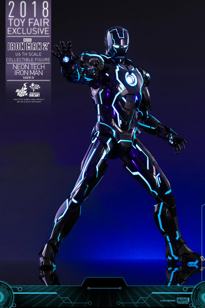 Iron Man 2: 1/6th Scale Neon Tech Iron Man