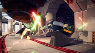 Yoda and Asajj Ventress face off in a lightsaber duel.jpg