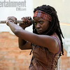'The Walking Dead' First Video Of Michonne Hacking Zombies Revealed!