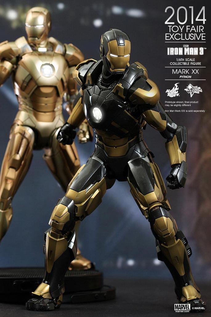 hot toys iron man 3 python mark xx 16th scale