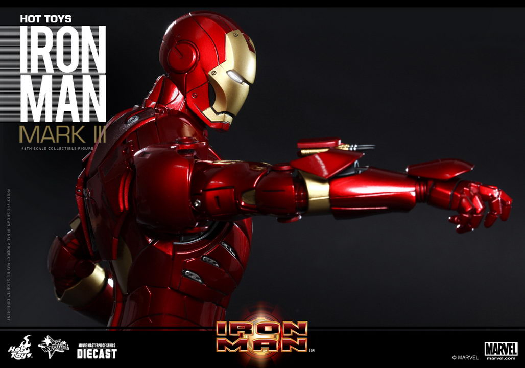 hot toys iron man 1 6th scale mark iii collectible figure movie masterpiece diecast series. Black Bedroom Furniture Sets. Home Design Ideas