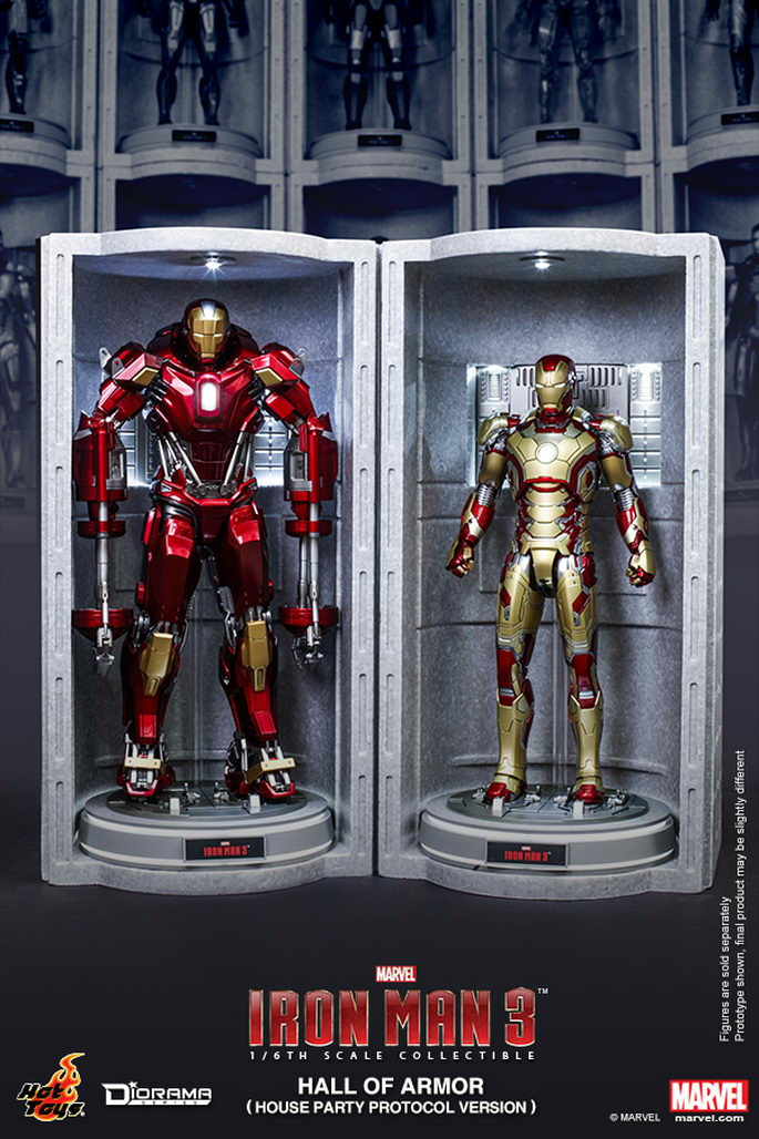 NEW House Party Protocol Version Hot Toys DS002 Iron Man Hall of Armor