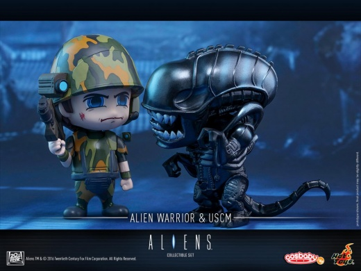 Hot Toys - Aliens - Alien Warrior & USCM Cosbaby (S) Set_PR3.jpg