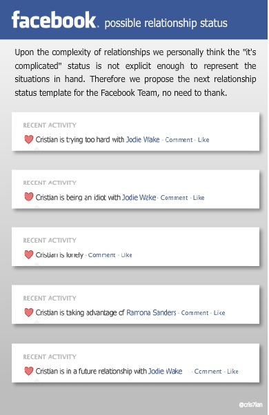 Proposal For More Explicit Facebook Relationship Statuses