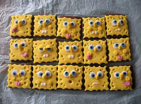 Cute sponge bob cookies are cute youbentmywookie sponge boob cookiesg voltagebd