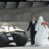 Bride And Groom Crash 'Batman The Dark Kinght Rises' Set - Get Wedding Photos With Batmobile