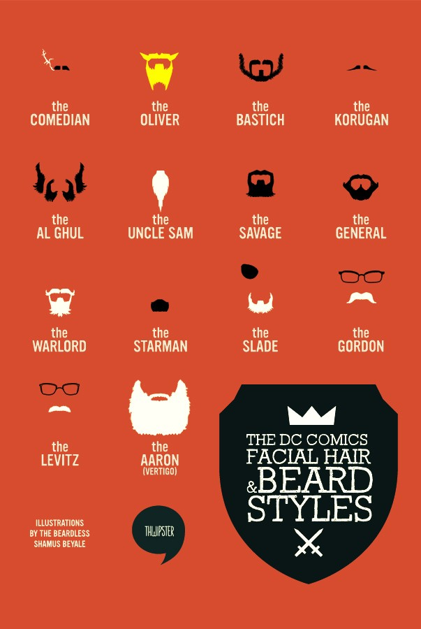 Heroic Beards and Moustaches From Marvel and DC Comics Characters