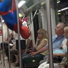 Meanwhile, In Poland… Spider-Man Goes For A Ride On The Subway