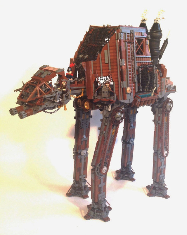 Insane Custom Star Wars Lego Steampunk At At Walker Ybmw