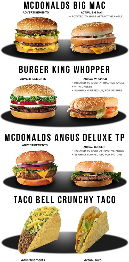 Disgusting Fast Food Ad Reality Jpg